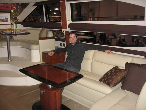 Large boat interior